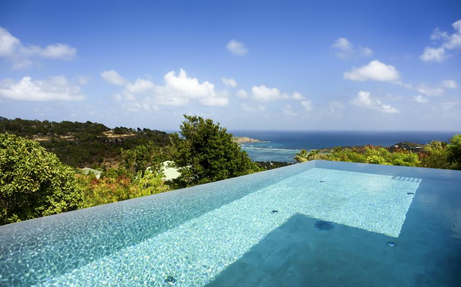 Vue panoramique de Lax villa